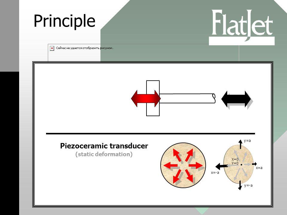 Principle X=0 Y=0 y=-a x=a x=-a y=a Piezoceramic transducer (static deformation)