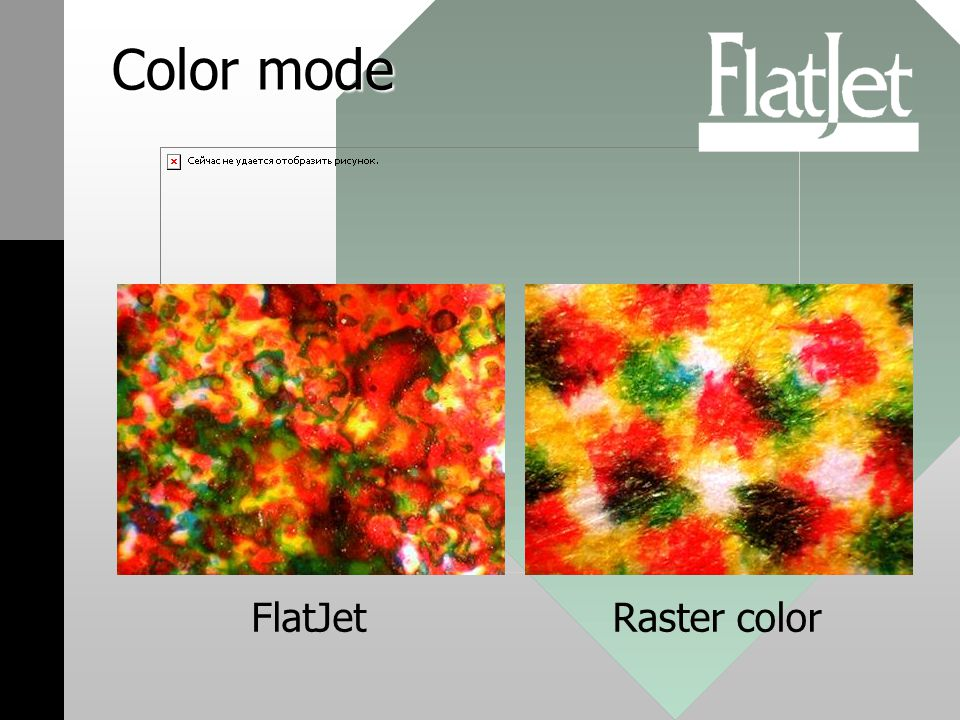 Color mode FlatJetRaster color