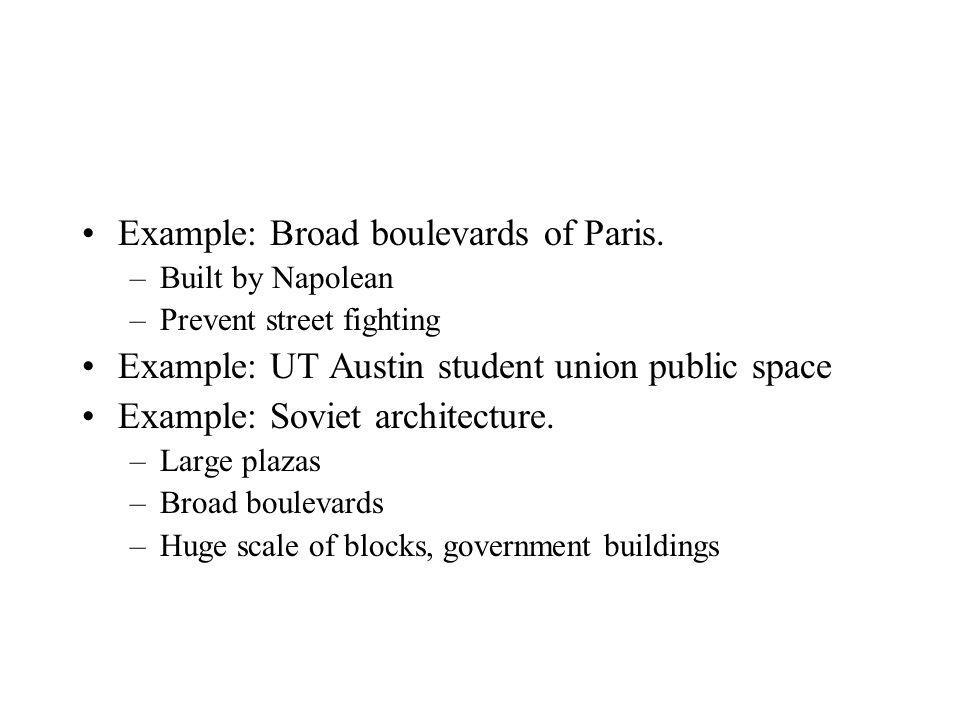 Example: Broad boulevards of Paris.