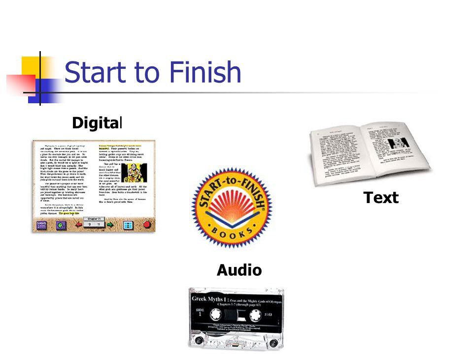 Start to Finish Digital Text Audio