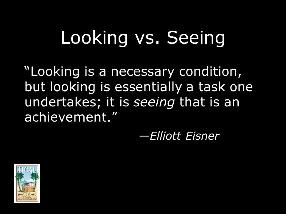 Looking vs.