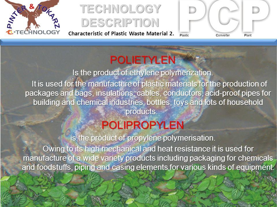 Raw Material Condition 1. TECHNOLOGY DESCRIPTION