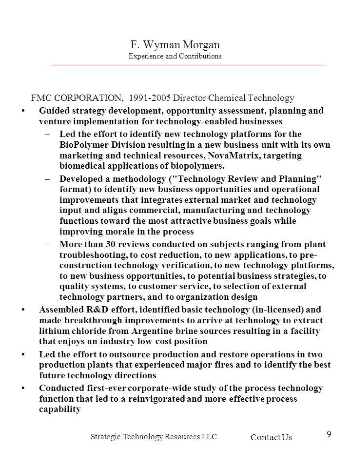 Strategic Technology Resources LLC 9 F.
