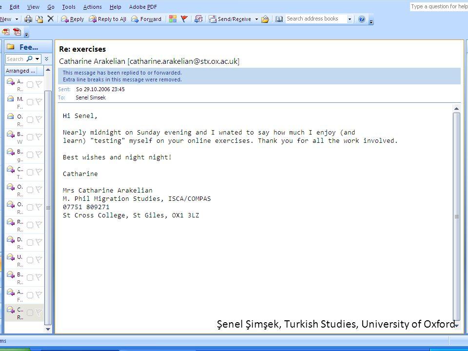Şenel Şimşek, Turkish Studies, University of Oxford