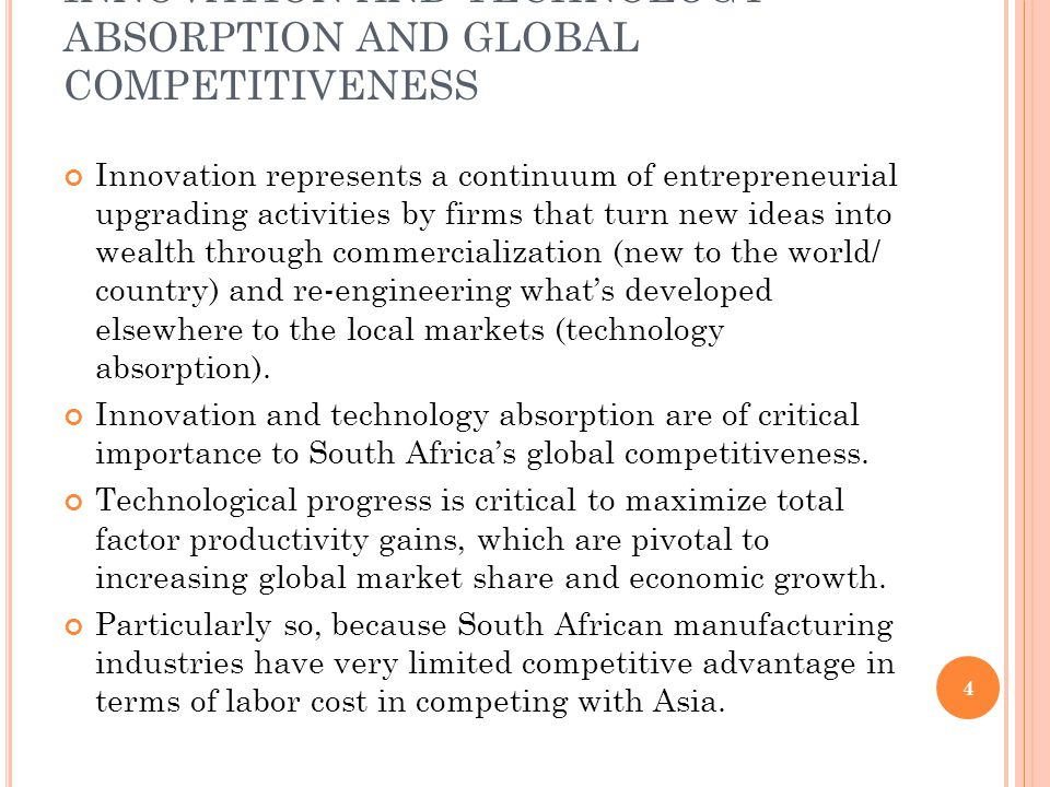 BUSINESS ENVIRONMENT Allocation of entrepreneurial talents between productive and non-productive usages: to be the best in innovation or rent-seeking.