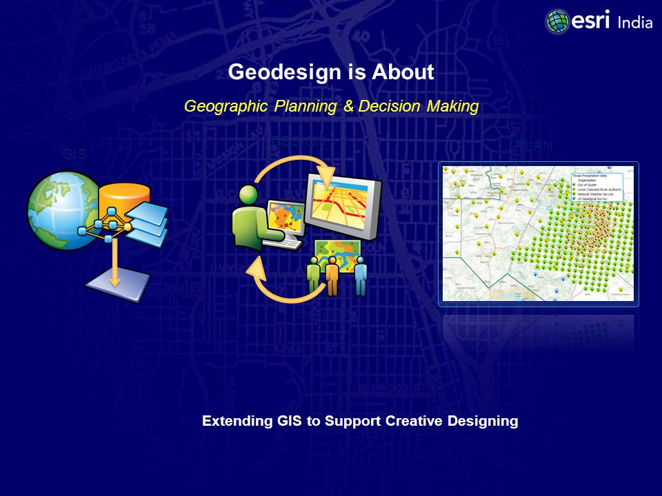 Geodesign Challenges Challenge #1 Develop a comprehensive understanding of geodesign and then work together to translate that understanding into a shared vision.