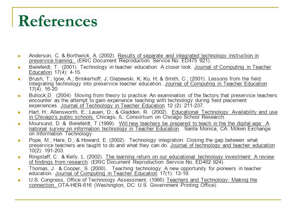 References Anderson, C. & Borthwick, A. (2002).