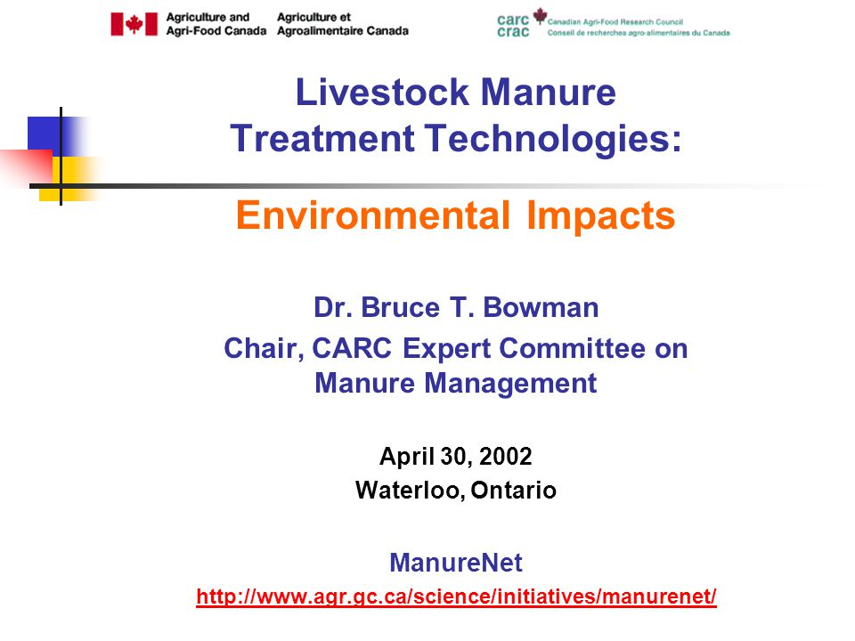 Environmental Impacts Dr. Bruce T.
