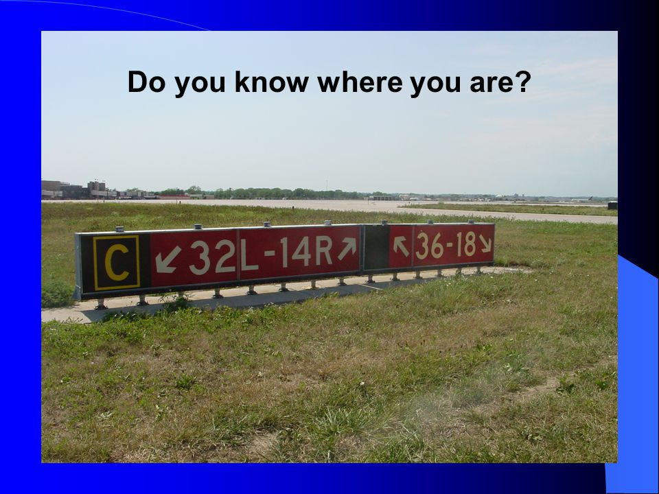 Do you know where you are