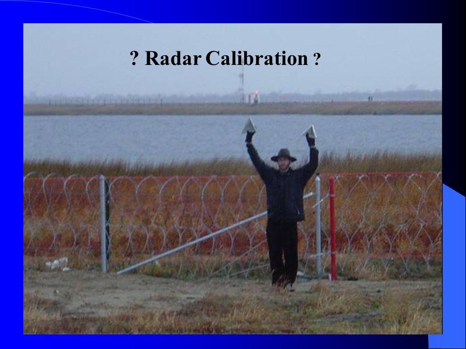 Radar Calibration