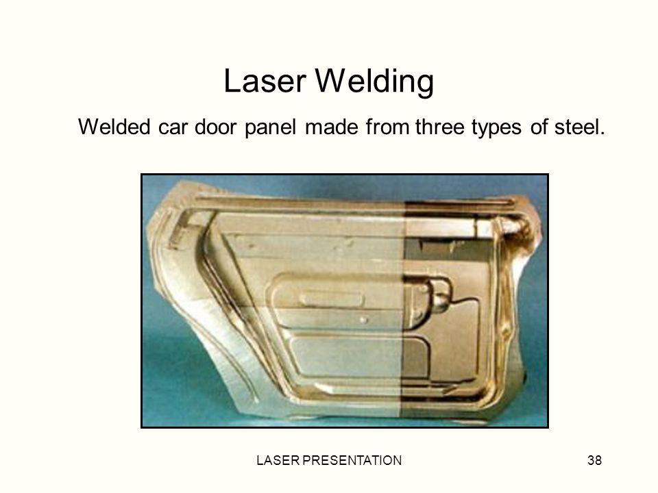 LASER PRESENTATION38 Laser Welding Welded car door panel made from three types of steel.
