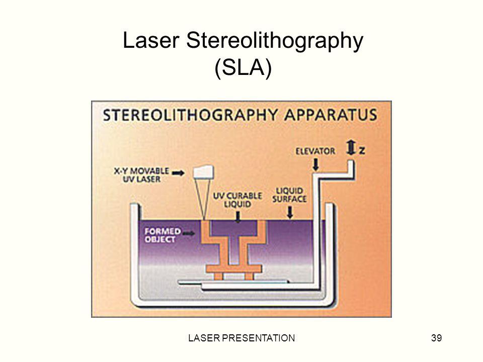 LASER PRESENTATION39 Laser Stereolithography (SLA)