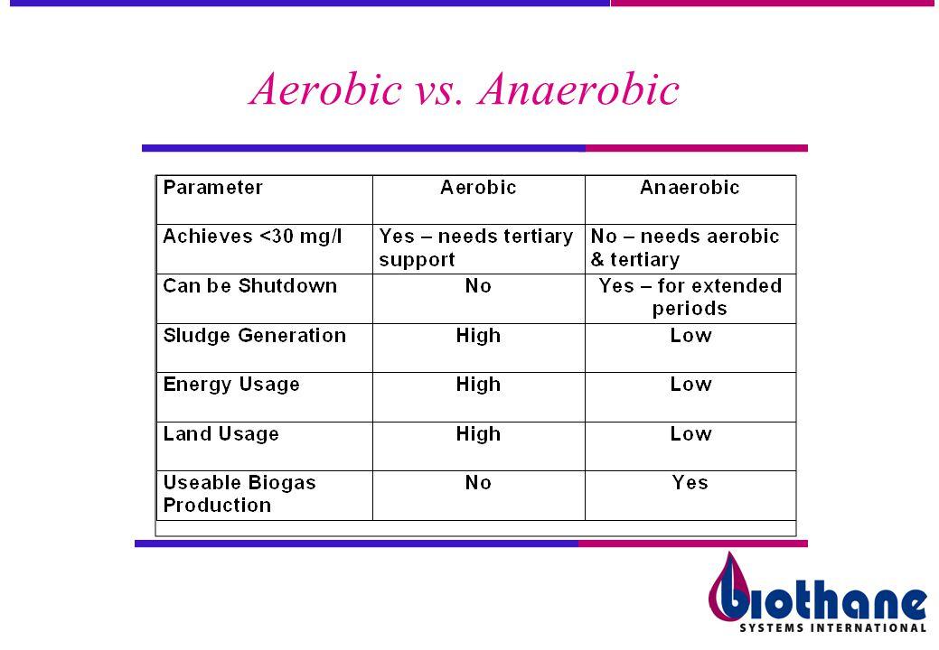 Aerobic vs. Anaerobic