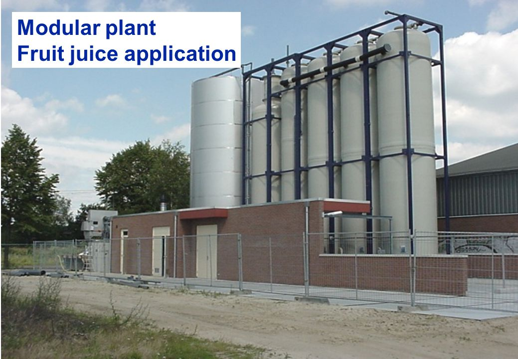 Modular plant Fruit juice application