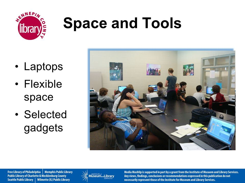 Space and Tools Laptops Flexible space Selected gadgets