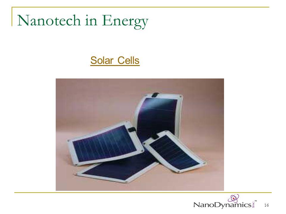 16 Nanotech in Energy Solar Cells