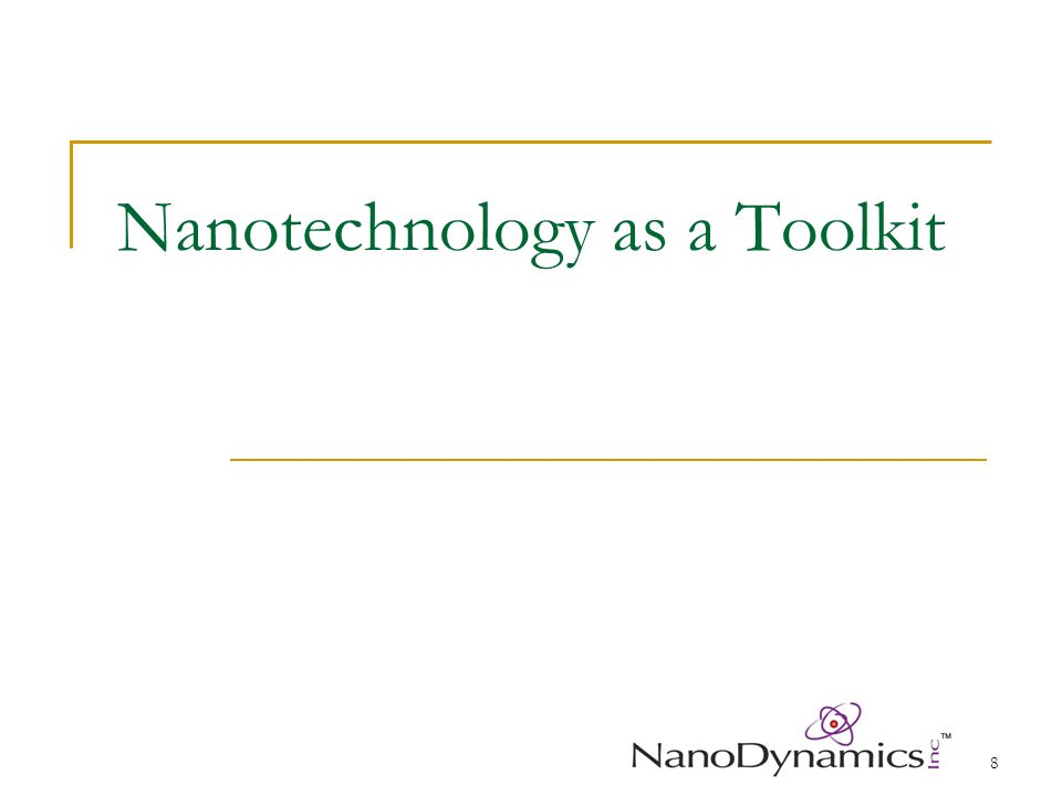 9 Will Nanotechnology be the Same Boom and Bust Story.