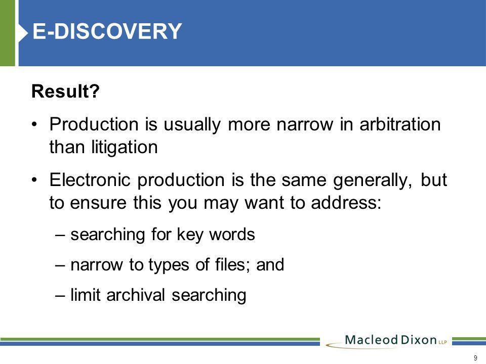 9 E-DISCOVERY Result.