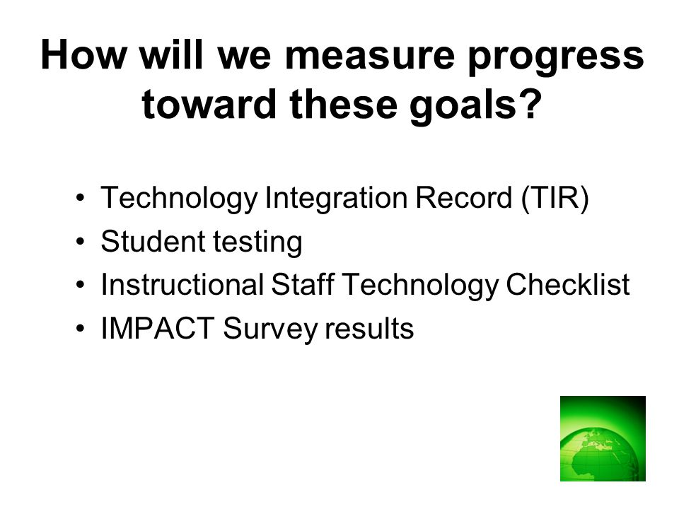 Technology Integration Record