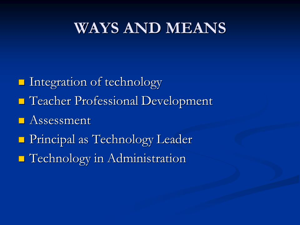 TECHNOLOGY INTEGRATION Educators must understand how to create and deliver high quality, technology- infused lessons that engage students and improve learning (Mitchem et al.