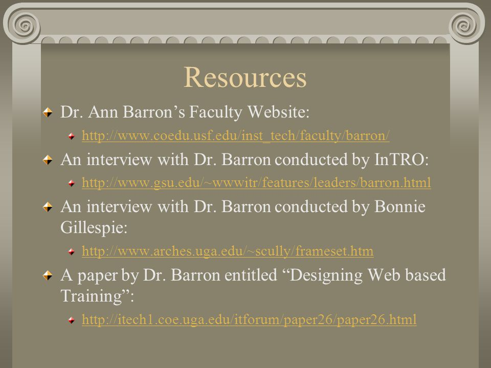 Resources Dr.