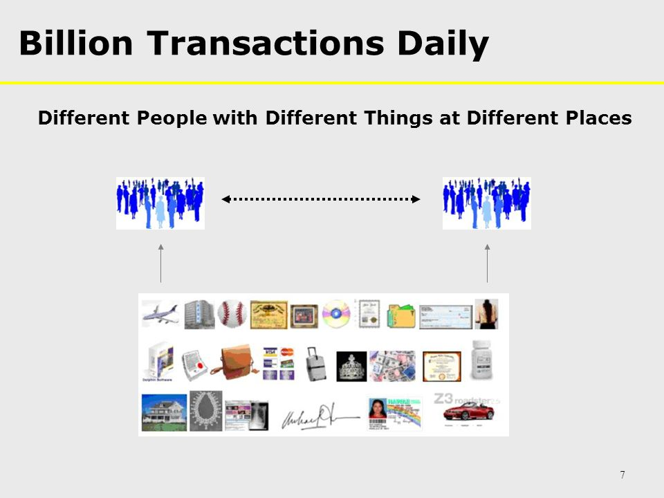 Billion Transactions Daily Different People with Different Things at Different Places 7