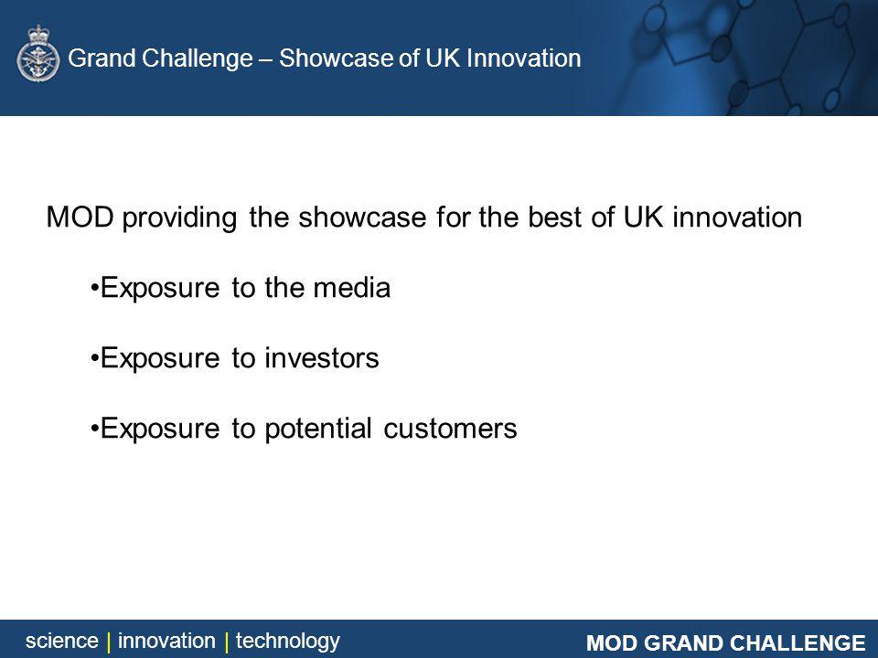 MOD GRAND CHALLENGE science | innovation | technology MOD GRAND CHALLENGE science | innovation | technology Grand Challenge – Showcase of UK Innovatio