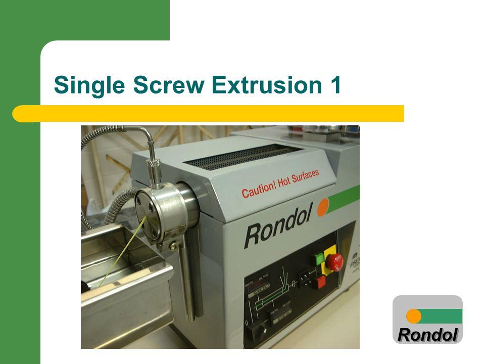 Rondol Single Screw Extrusion 1