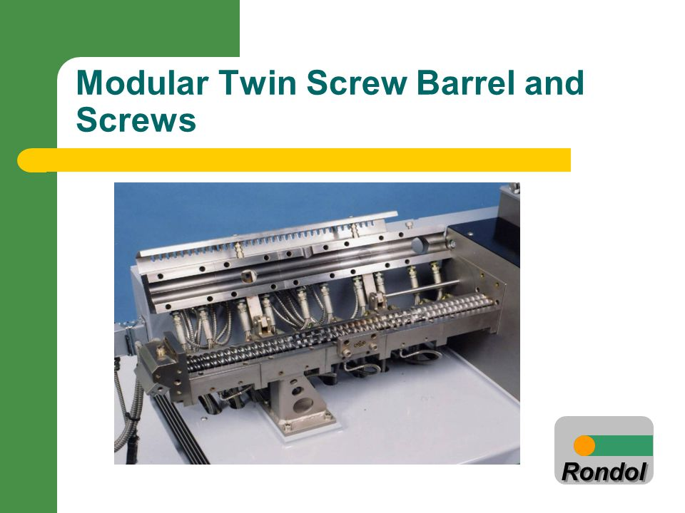 Rondol Modular Twin Screw Barrel and Screws