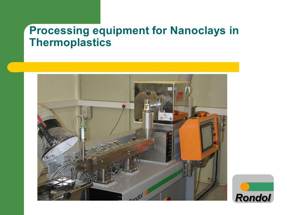 Rondol Processing equipment for Nanoclays in Thermoplastics