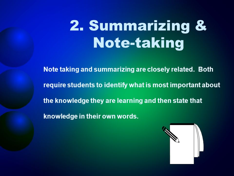 Examples Word processing software for note- taking Blogging and sharing notes and ideas Inspiration, Kidspiration or KidPix to create outline templates Cornell note templates (AVID)
