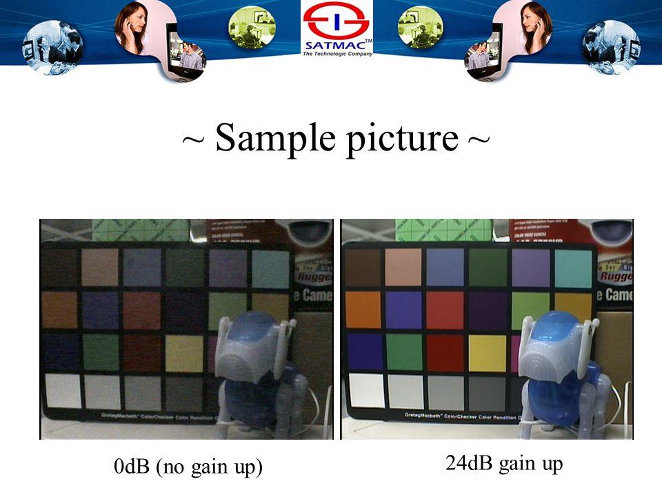 Electronic Gain Gain-upOutput signal level 6 dB2 times 9 dB3 times 12 dB4 times 18 dB8 times 24 dB16 times As the Gain increases, the S/N ratio decrea