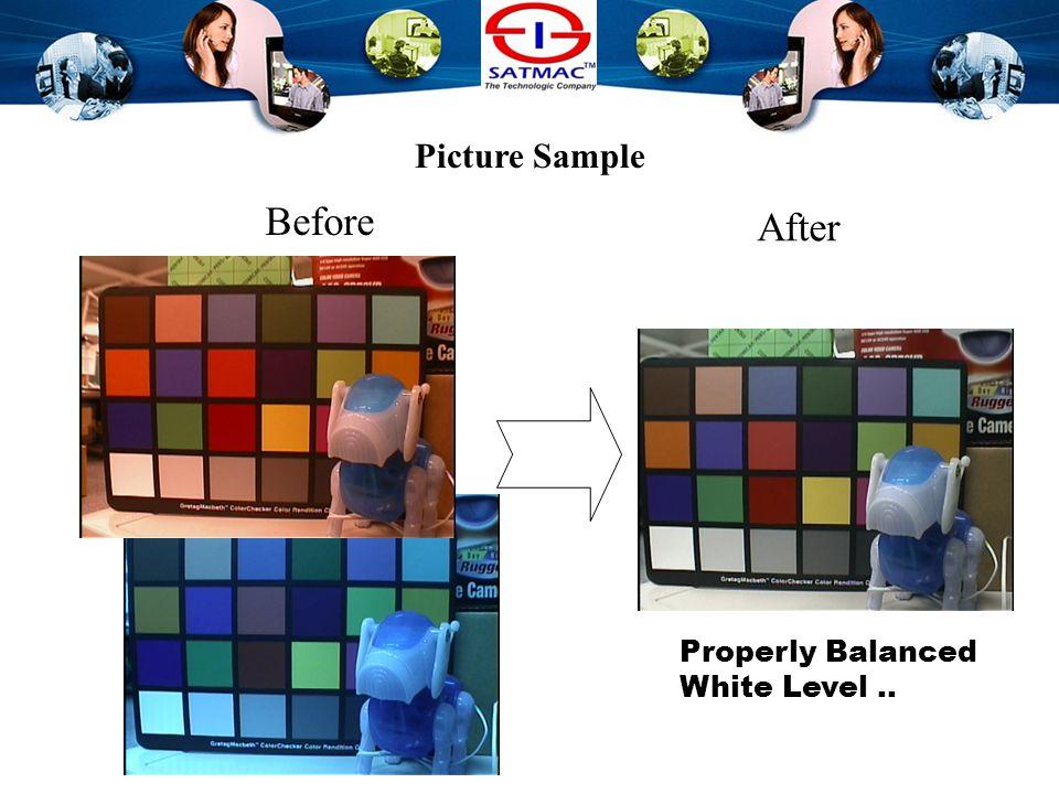 White Balance Levels Balanced Levels Unbalanced Combination of R, G & B gives White, properly balanced RGB levels gives perfect white.