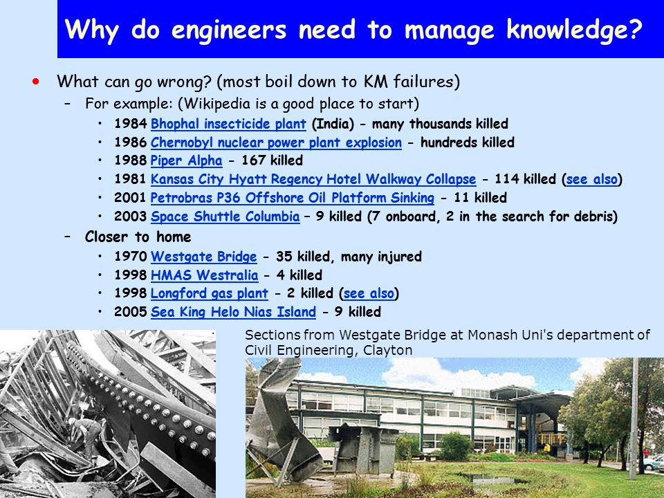 Why do engineers need to manage knowledge.