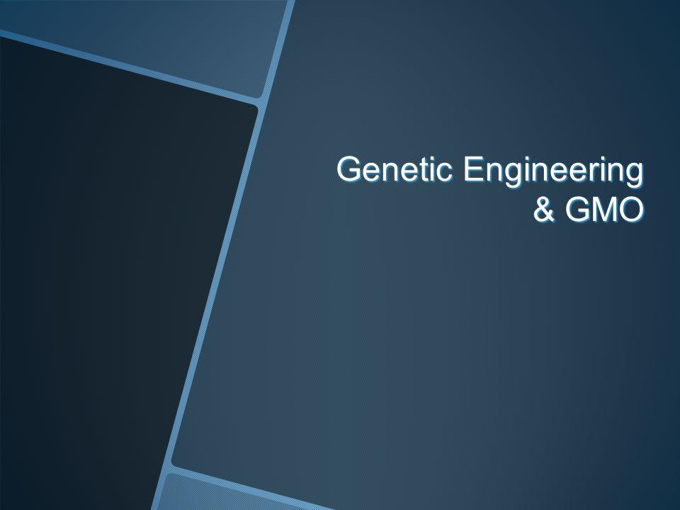 Genetic Engineering & GMO