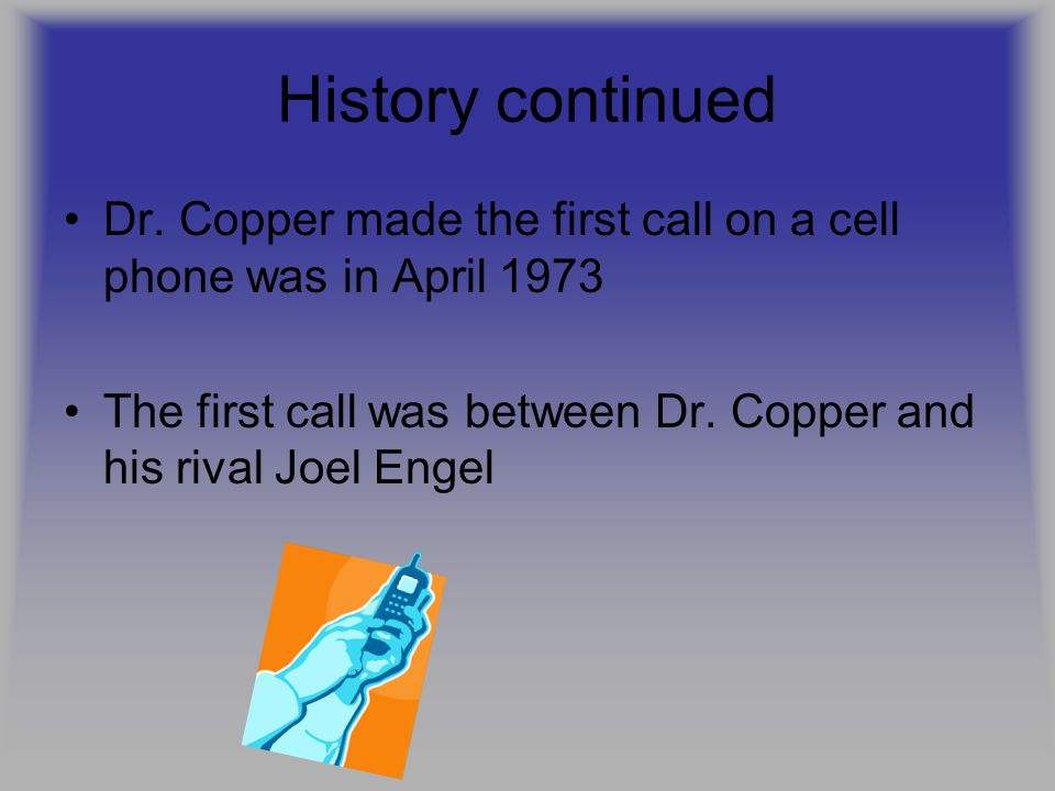 History continued Dr.