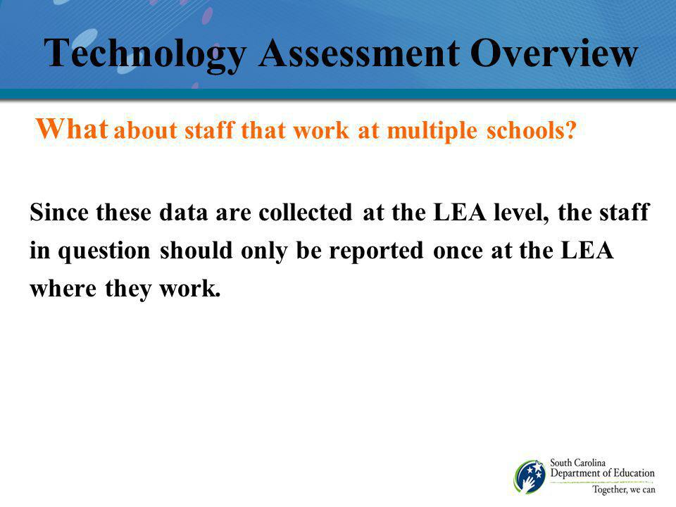 Are there any questions at this time? Technology Assessment Overview