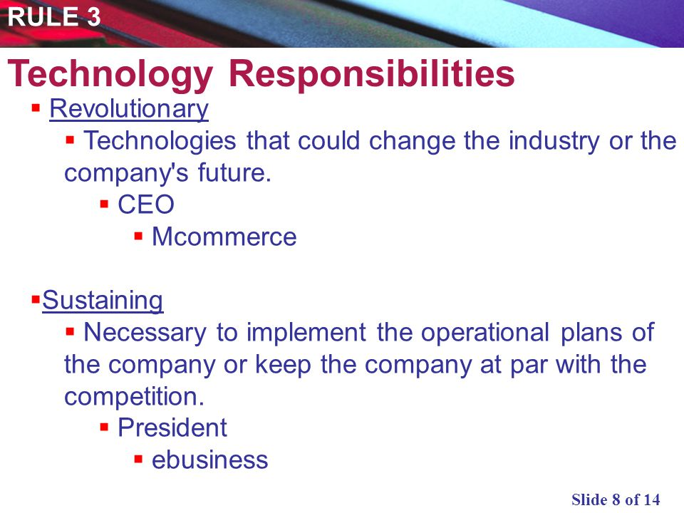 Slide 9 of 14 Emerging Potential isnt clear yet.