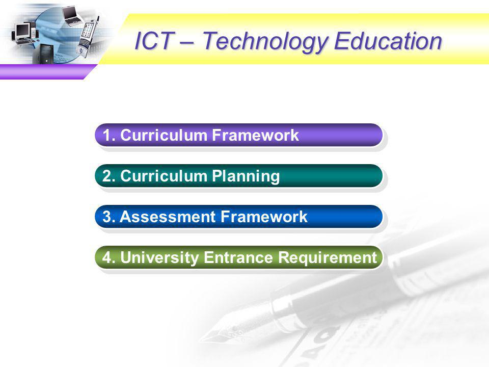 Curriculum Aims To provide students with essential knowledge, concepts and applications of information, communication and computer systems To equip students with problem-solving and communication skills, and encourage them to think critically and creatively To develop students into competent, effective, discriminating, ethical and confident users of ICT for their lifelong learning To nurture students with positive values and attitudes towards appreciating the impact of ICT on our knowledge-based society