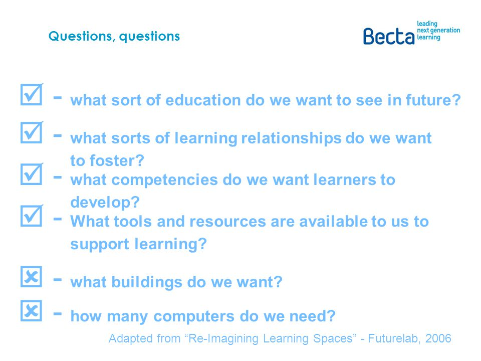 Questions, questions - what sort of education do we want to see in future.