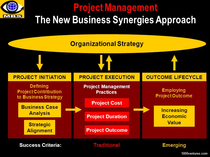 Organizational Strategy Project Management The New Business Synergies Approach TraditionalEmerging Defining Project Contribution to Business Strategy
