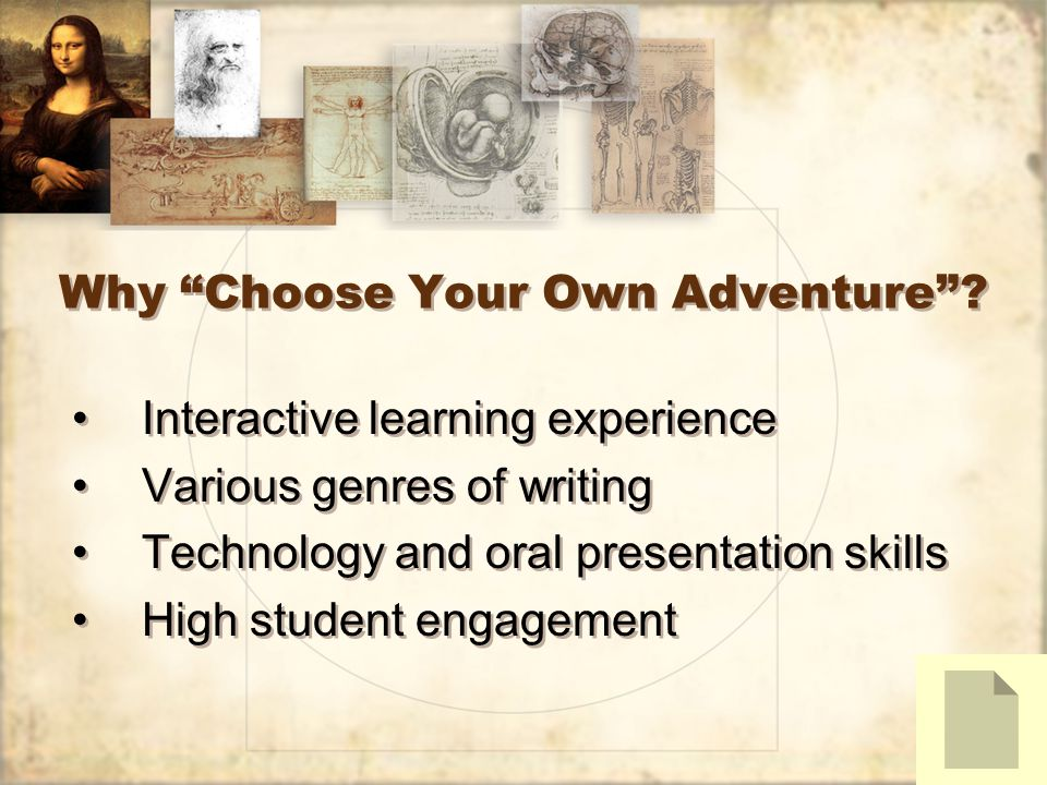 Why Choose Your Own Adventure.