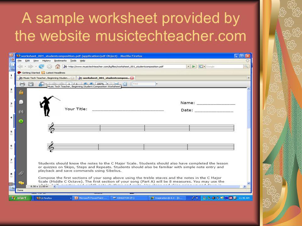 Example of useful website, Music Tech Teacher