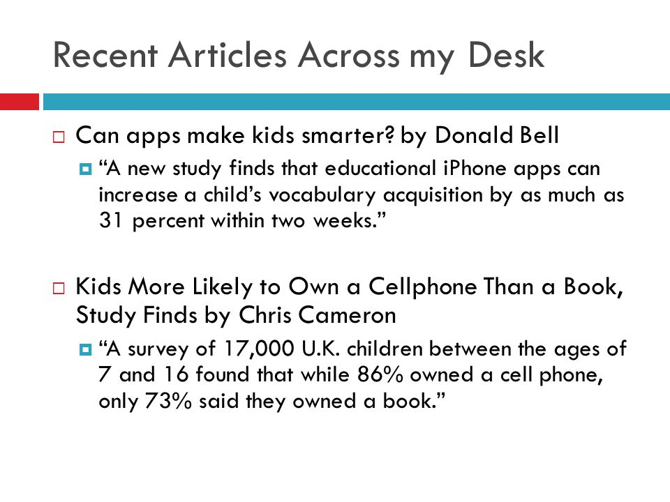 Can apps make kids smarter.