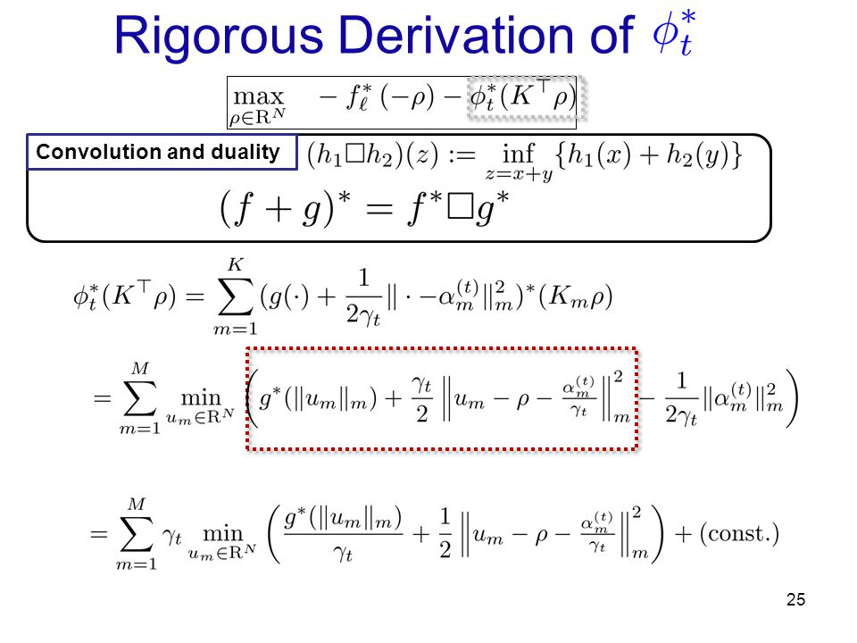Rigorous Derivation of 25 Convolution and duality
