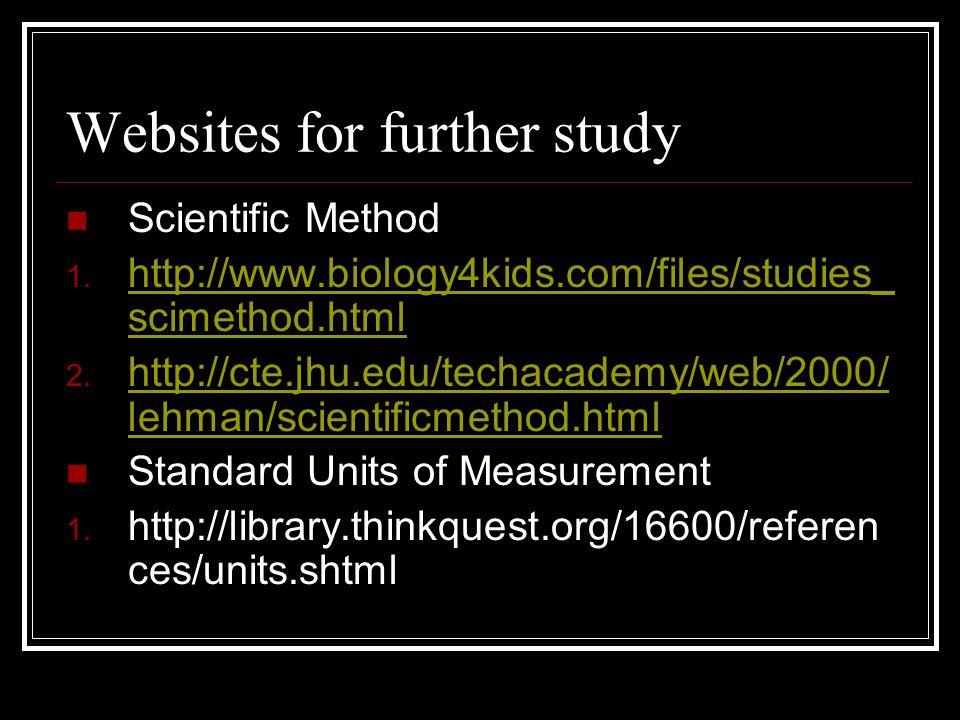 Standard Unit of Measurement continued 2.