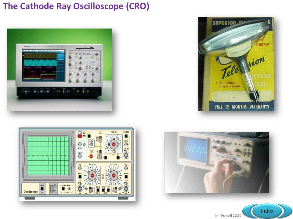 Mr Powell 2009 Index The Cathode Ray Oscilloscope (CRO) T h i s p r e s e n t a t i o n w i l l p r o b a b l y i n v o l v e a u d i e n c e d i s c u s s i o n, w h i c h w i l l c r e a t e a c t i o n i t e m s.