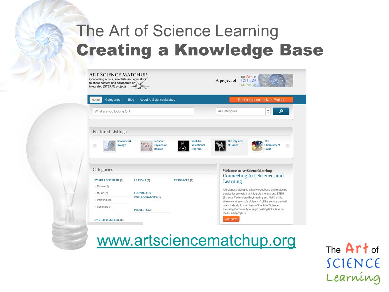 The Art of Science Learning Creating a Knowledge Base