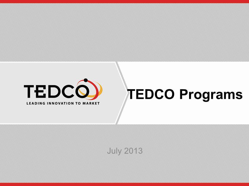 TEDCO Programs July 2013