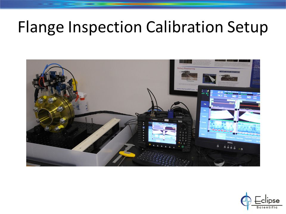 Flange Inspection Calibration Setup